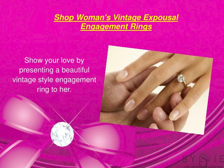 Shop Woman's Vintage Expousal Engagement Rings