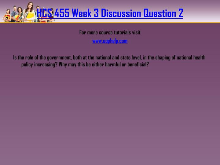 HCS 455 Week 3 Discussion Question 2