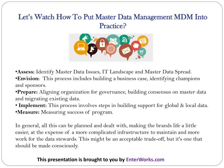 Let's Watch How To Put Master Data Management MDM Into Practice?