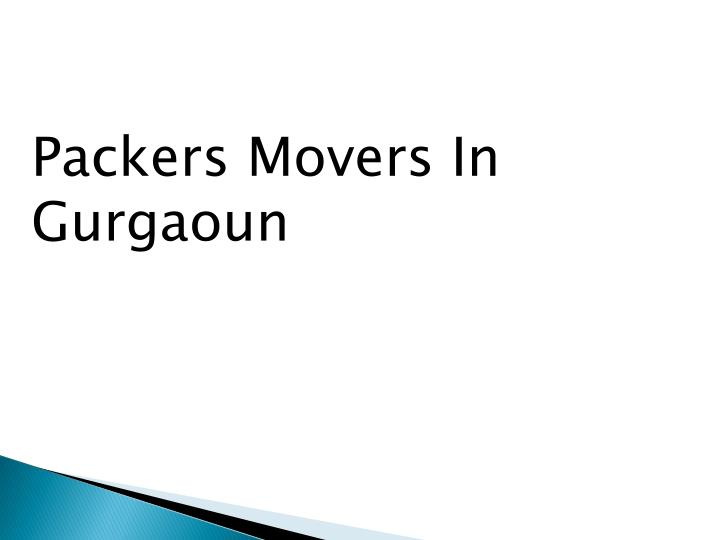 Packers Movers In
