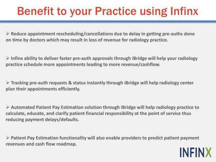 Benefit to your Practice using Infinx