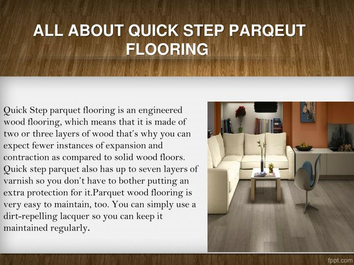 ALL ABOUT QUICK STEP PARQEUT FLOORING