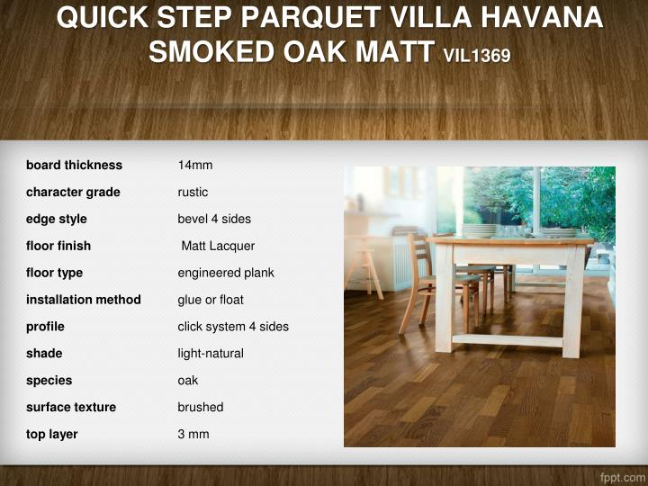 Quick Step Parquet Villa Havana Smoked Oak Matt