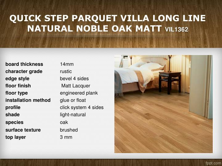 Quick Step Parquet Villa Long Line Natural Noble Oak Matt