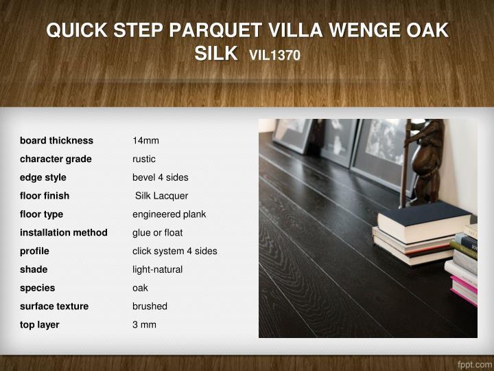 Quick Step Parquet Villa Wenge Oak Silk