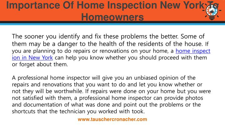 Importance of home inspection new york to homeowners1