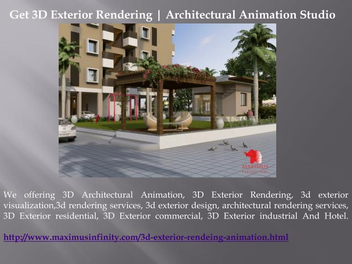 Get 3D Exterior Rendering | Architectural Animation