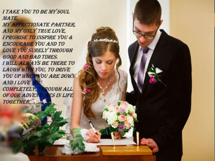 Wedding vows for your grand wedding ceremony