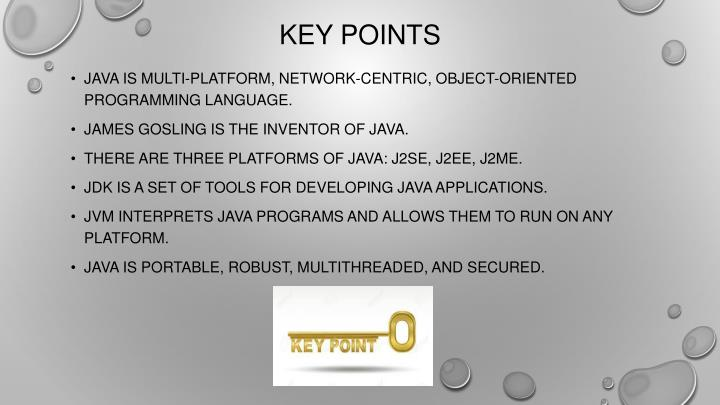 Java is multi-platform, network-centric, object-oriented programming language.