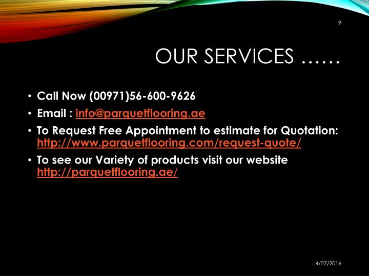 Our Services ……