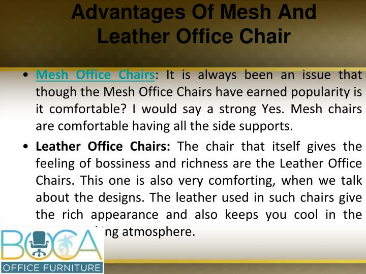 Advantages Of Mesh And Leather Office Chair