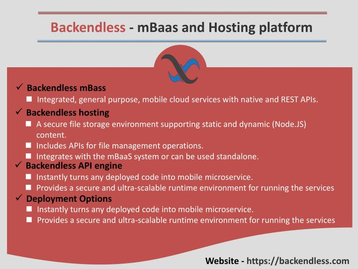 Backendless - mBaas and Hosting platform