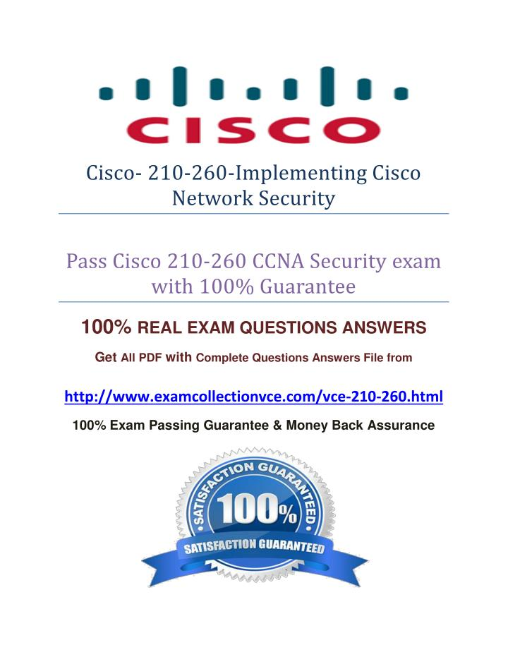 Cisco- 210-260-Implementing Cisco
