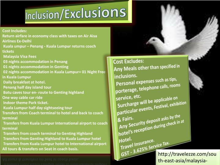 Inclusion/Exclusions