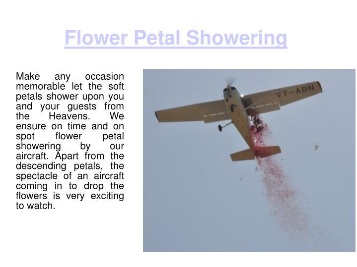 Flower Petal Showering