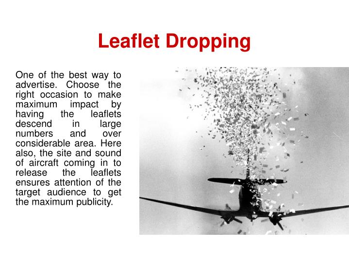Leaflet Dropping
