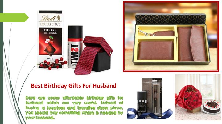 Gifts For Husband Birthday Singapore Ppt Powerpoint Presentation