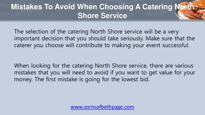 Mistakes to avoid when choosing a catering north shore service1