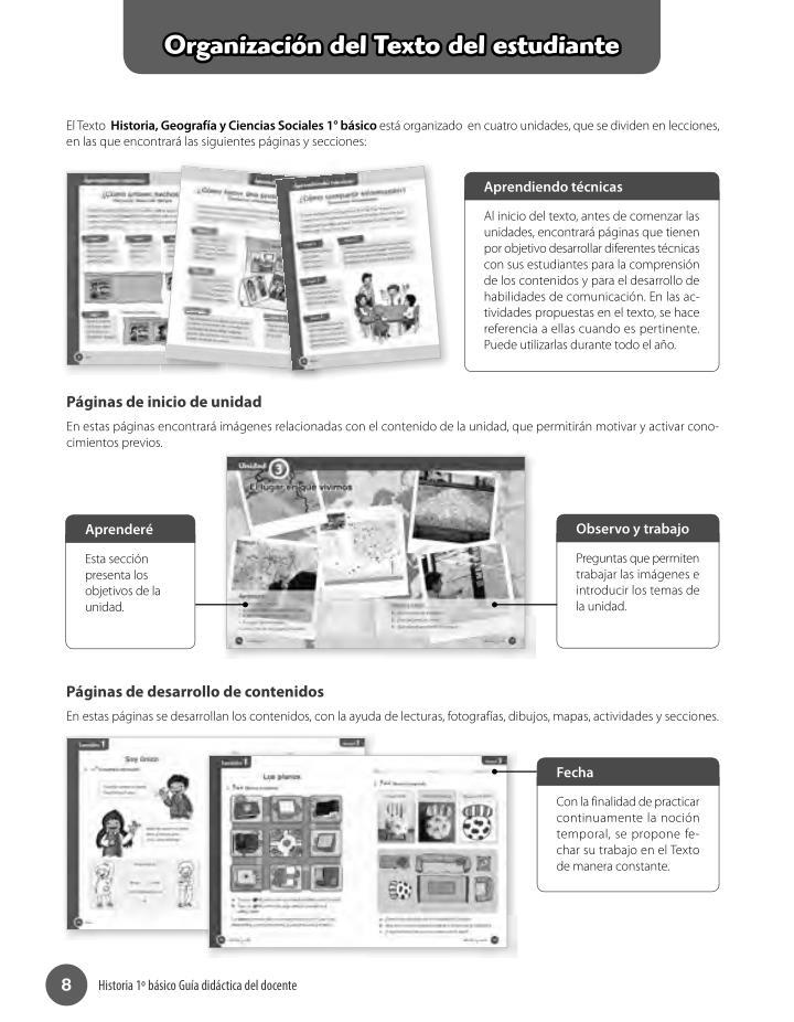 Organización del Texto del estudiante