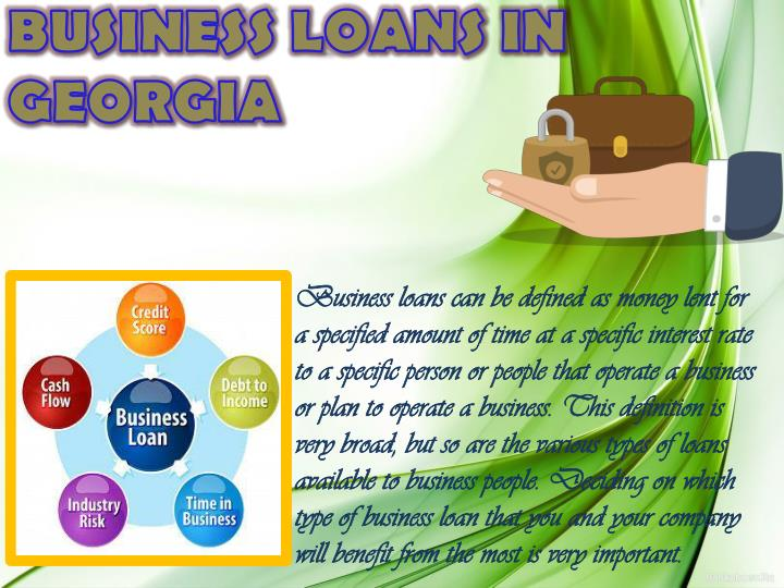 BUSINESS LOANS IN GEORGIA