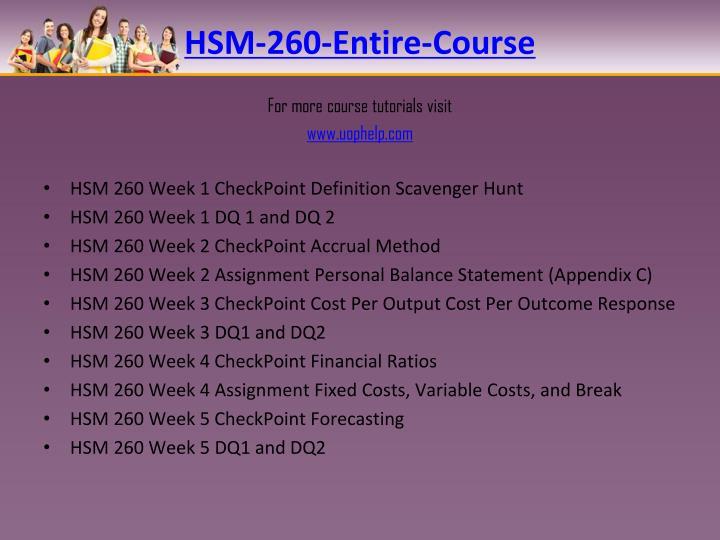 HSM-260-Entire-Course