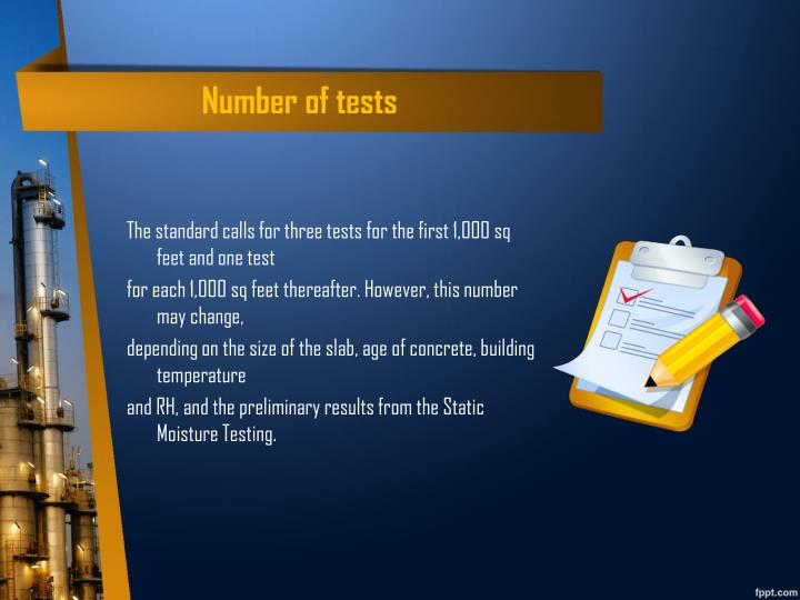 Number of tests