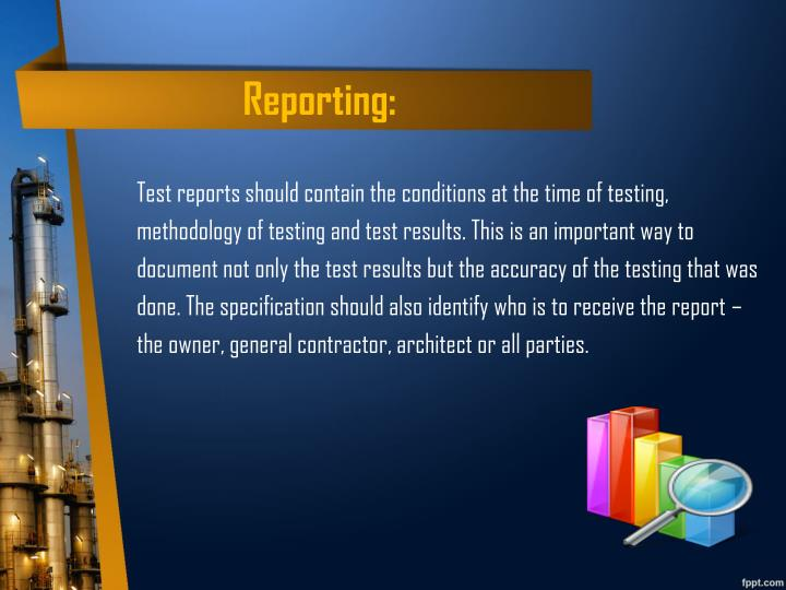 Reporting: