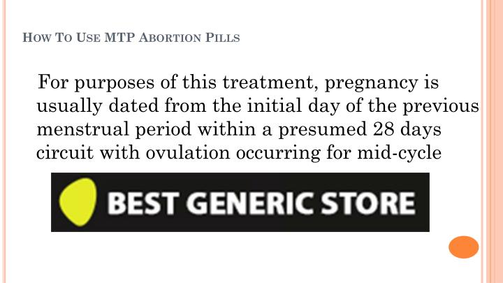 How to use mtp abortion pills