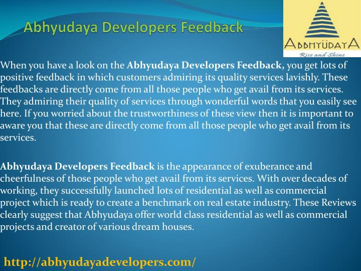 abhyudaya developers feedback