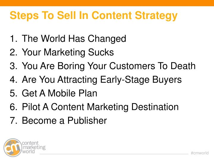Steps To Sell In Content Strategy