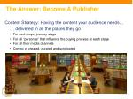the answer become a publisher