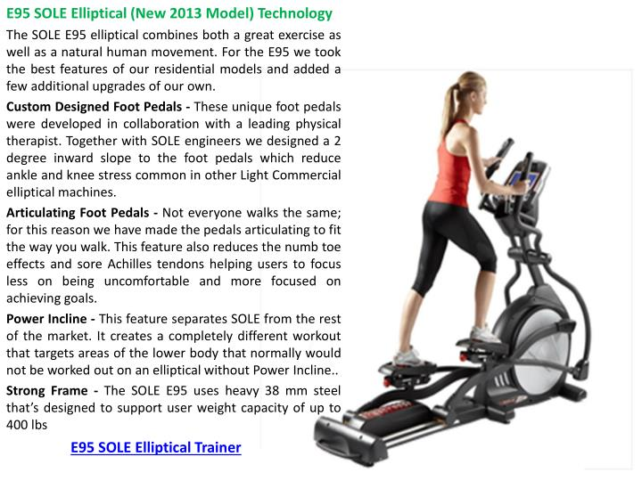 E95 SOLE Elliptical Trainer