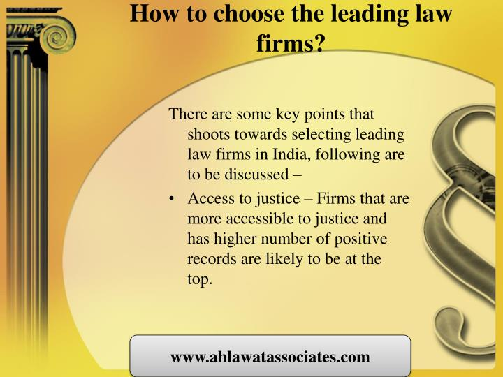 How to choose the leading law firms?