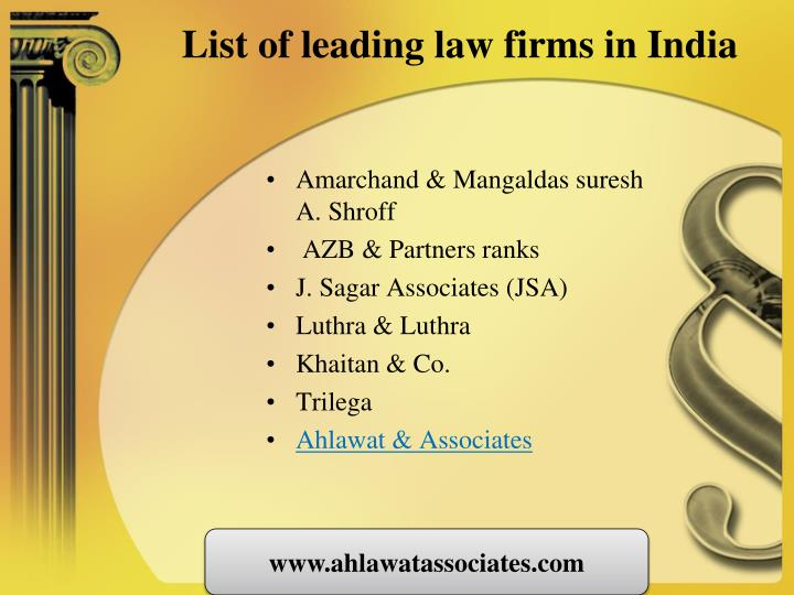 List of leading law firms in india