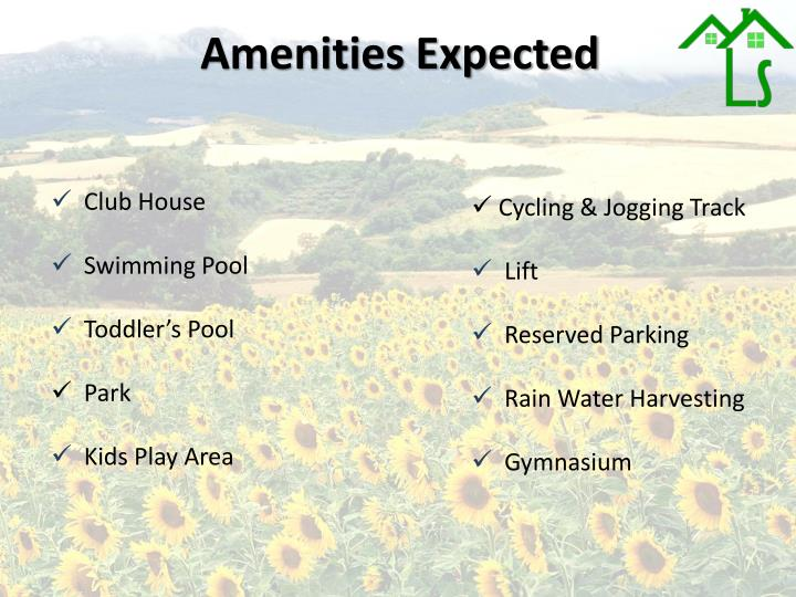 Amenities Expected