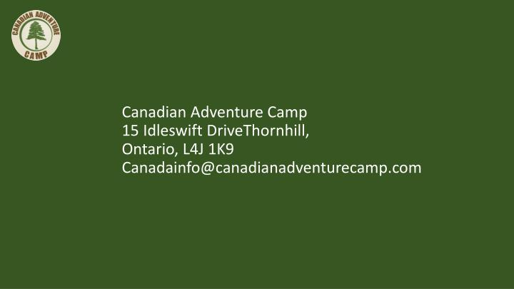 Canadian Adventure Camp