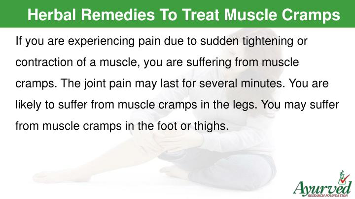 Herbal Remedies To Treat Muscle Cramps