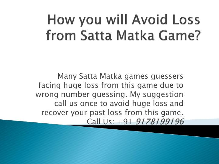 Many Satta Matka games guessers