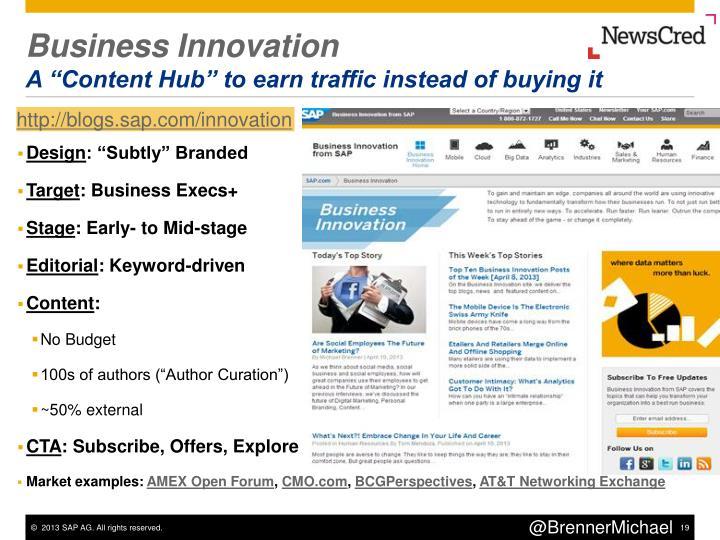 Business Innovation