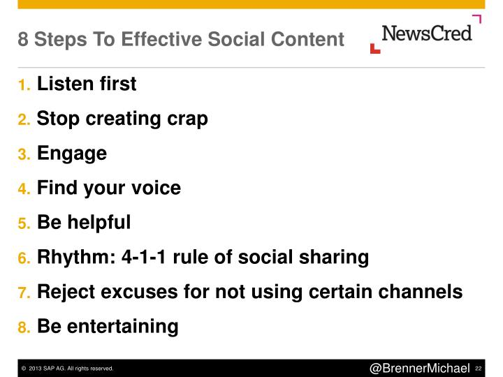 8 Steps To Effective Social Content