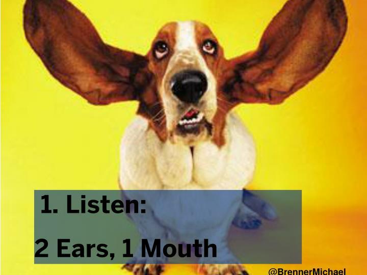 1. Listen: