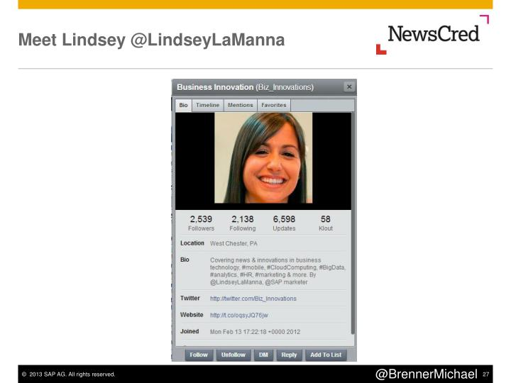 Meet Lindsey @LindseyLaManna
