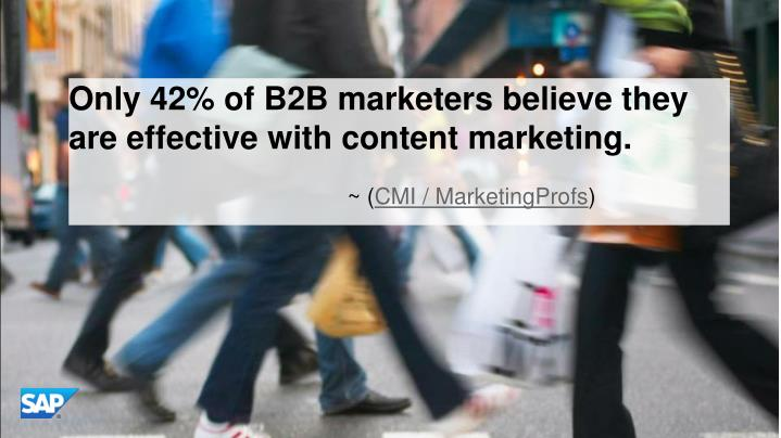 Only 42% of B2B marketers believe they