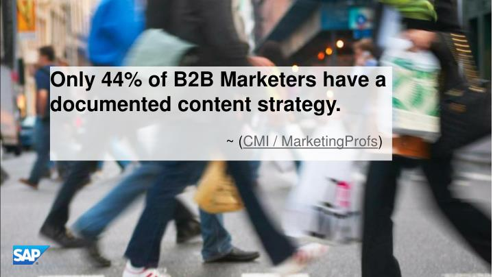 Only 44% of B2B Marketers have a