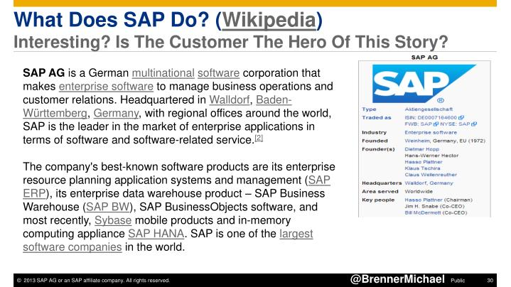 What Does SAP Do? (Wikipedia)