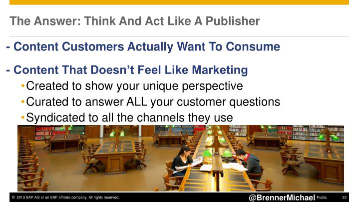 The Answer: Think And Act Like A Publisher