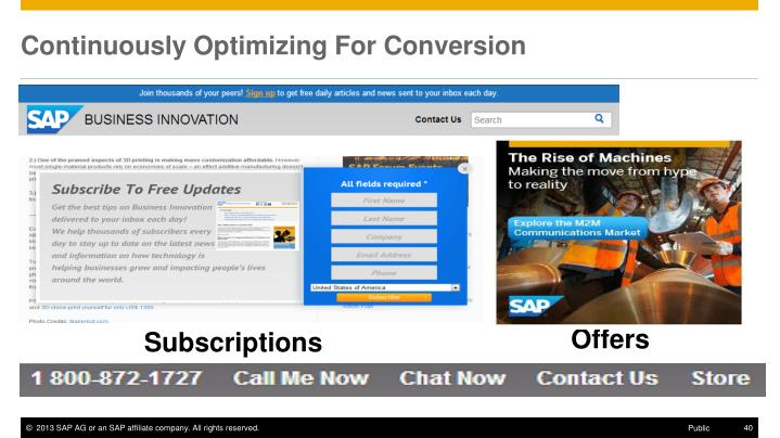 Continuously Optimizing For Conversion