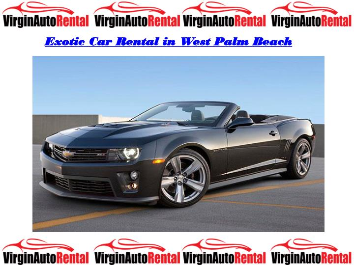 Exotic Car Rental in West Palm Beach