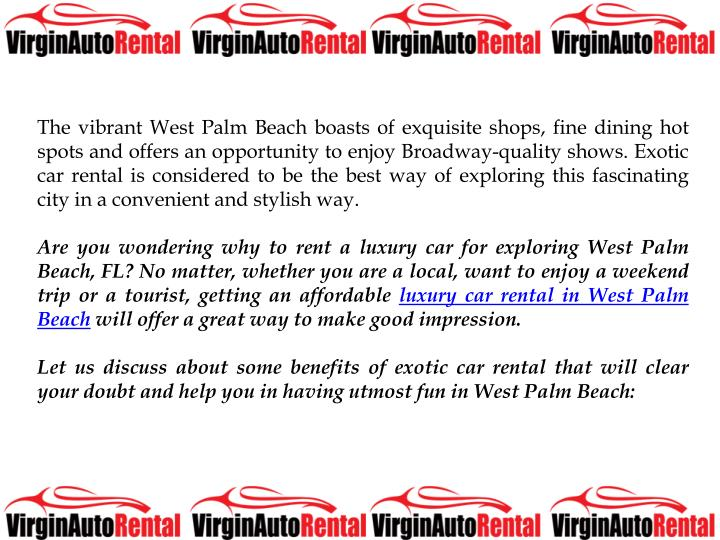 The vibrant West Palm Beach boasts of exquisite shops, fine dining hot spots and offers an opportuni...