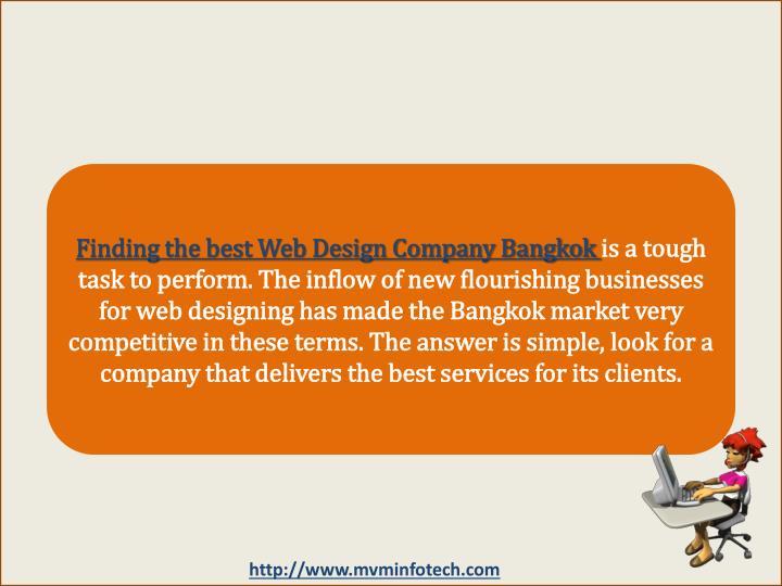 Finding the best Web Design Company Bangkok